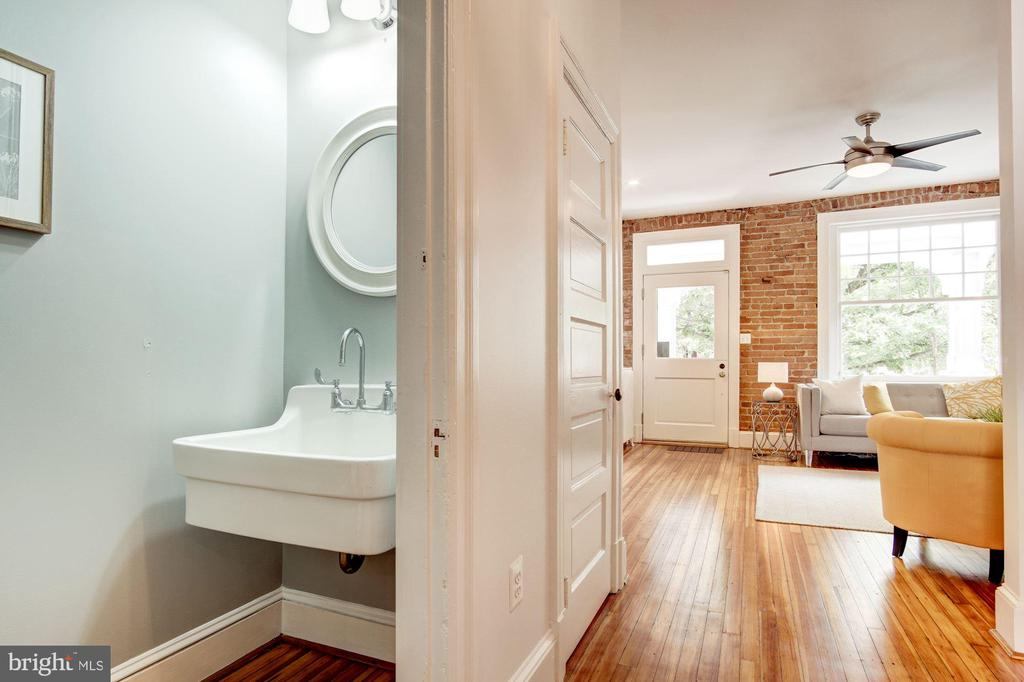 Powder room with vintage sink - 1218 EUCLID ST NW, WASHINGTON