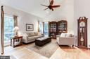 Open living room with tons of light - 11583 LAKE NEWPORT RD, RESTON