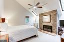 Beautiful Master Bedroom with fireplace - 11583 LAKE NEWPORT RD, RESTON