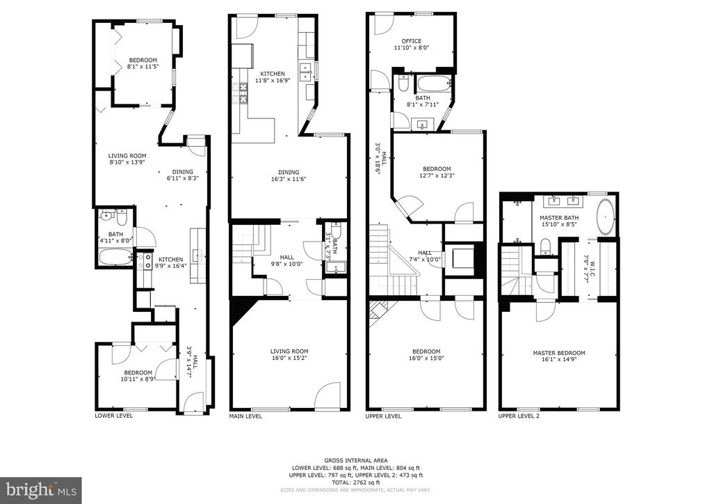 Floor plans - 1218 EUCLID ST NW, WASHINGTON