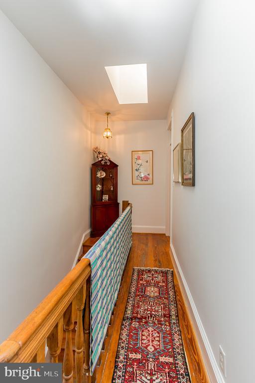 3rd level hallway with new skylight - 2108 O ST NW, WASHINGTON