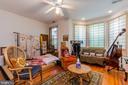 1st bedroom on 2nd level with bay windows - 2108 O ST NW, WASHINGTON