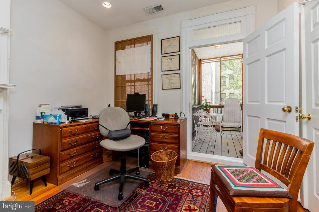 2nd bedroom on 2nd level with screened porch - 2108 O ST NW, WASHINGTON