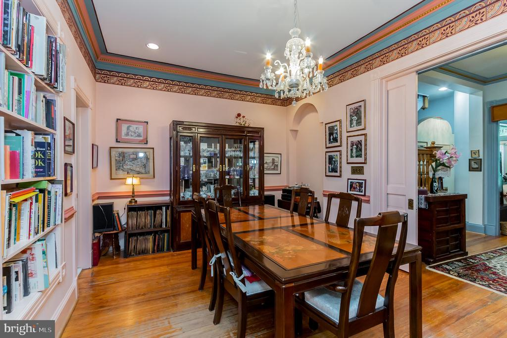 Formal dining room with fireplace - 2108 O ST NW, WASHINGTON