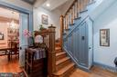 Staircase with original details - 2108 O ST NW, WASHINGTON