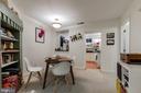 Basement apartment dining room - 2108 O ST NW, WASHINGTON