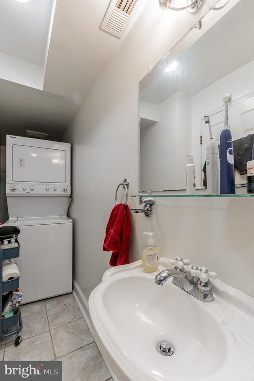 Basement level bath and laundry - 2108 O ST NW, WASHINGTON
