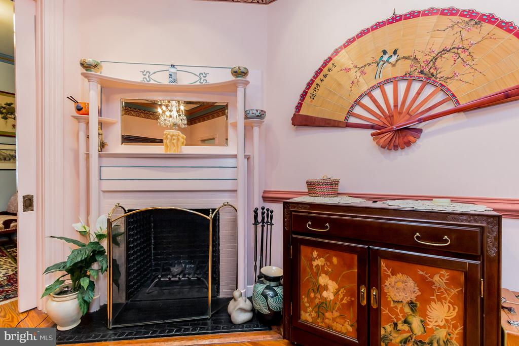Dining room features a fireplace - 2108 O ST NW, WASHINGTON