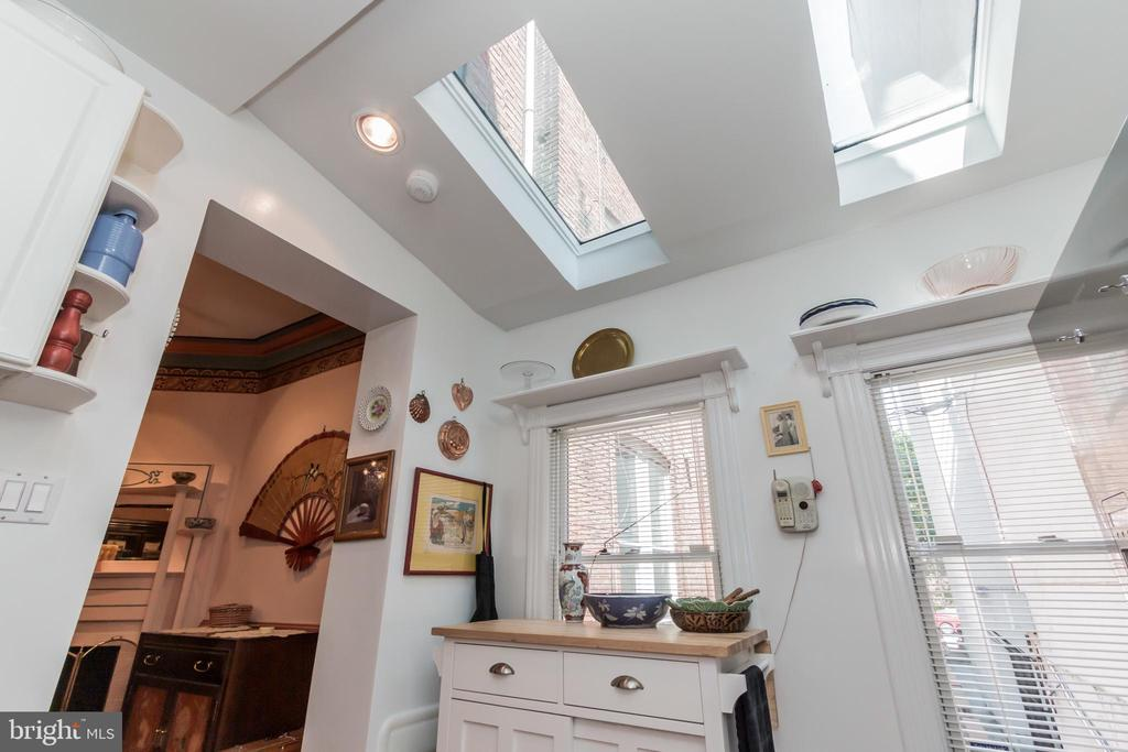 Kitchen features skylights - 2108 O ST NW, WASHINGTON