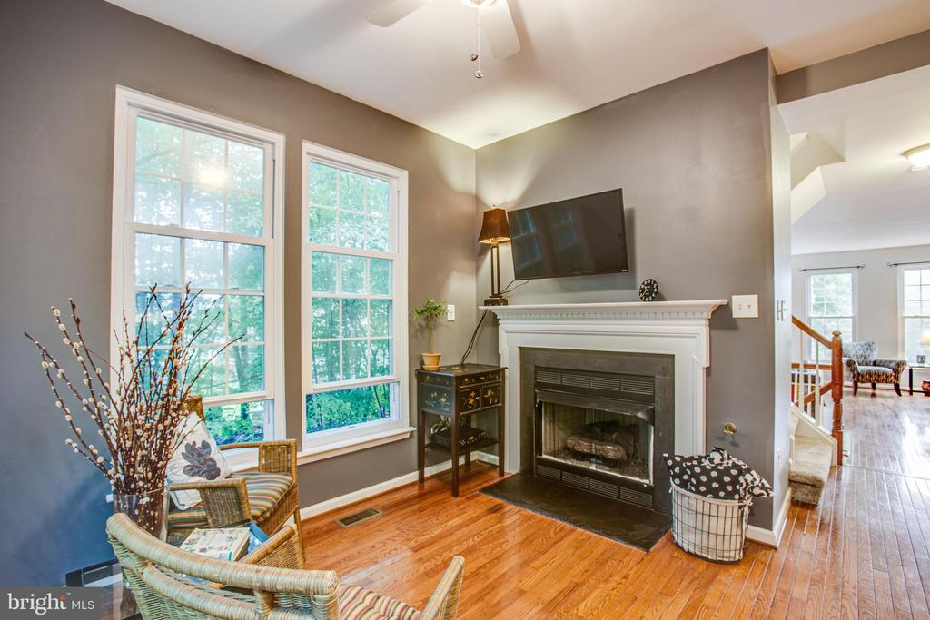 Charming breakfast nook with gas fireplace - 8539 BERTSKY LN, LORTON