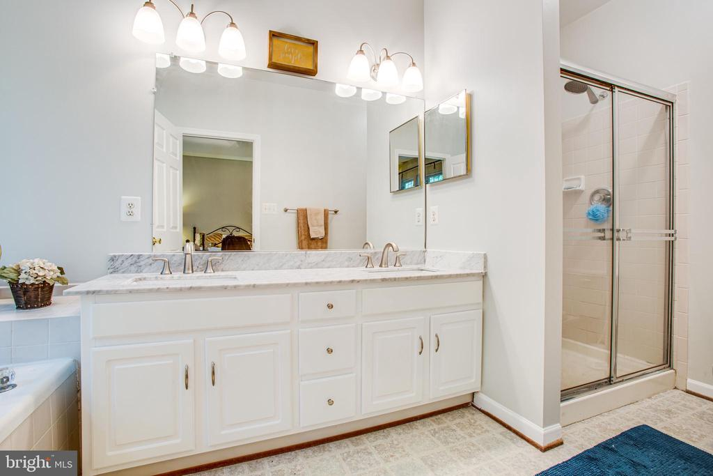Double-sink, separate shower and lots of light - 8539 BERTSKY LN, LORTON