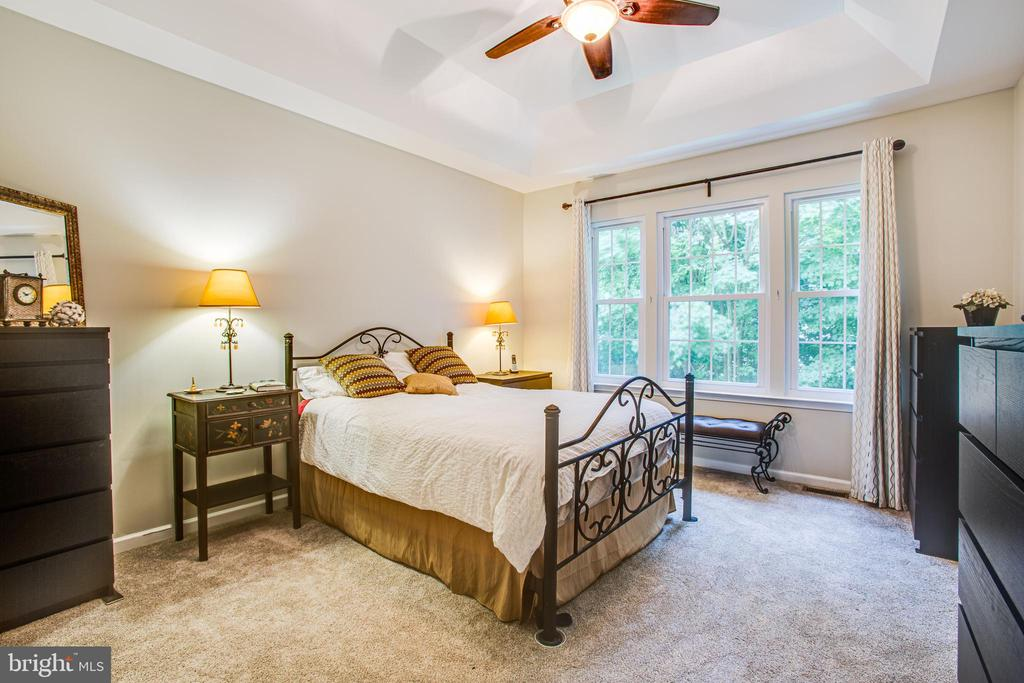 Master bedroom with lovely view to woods - 8539 BERTSKY LN, LORTON