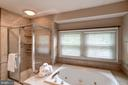 A spa like feel in the soaking tub - 43131 WEATHERWOOD DR, ASHBURN