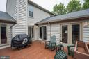 Deck right off kitchen - 43131 WEATHERWOOD DR, ASHBURN