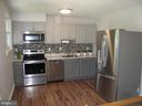 Kitchen with stainless steel appliances - 17 S PENDLETON CT, FREDERICK