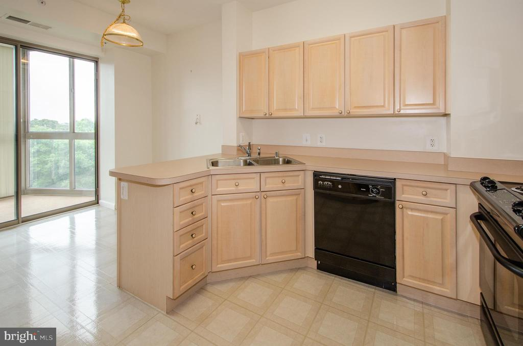 Kitchen    and breakfast room area and door to sun - 19355 CYPRESS RIDGE TER #823, LEESBURG