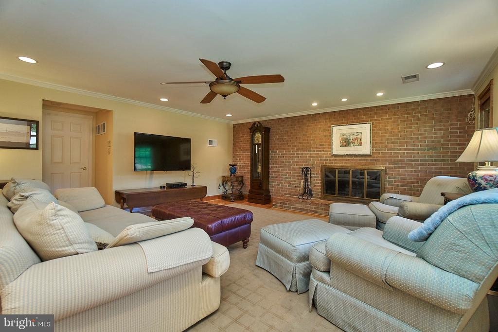 Exposed brick wall, is a perfect backdrop for FP - 8502 TYSONS CT, VIENNA