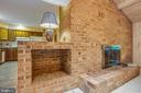 Brick wall with gas fireplace - 25 TALLY HO DR, FREDERICKSBURG