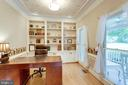 Mail Level Home Office has Built-ins. - 11256 WAPLES MILL RD, OAKTON
