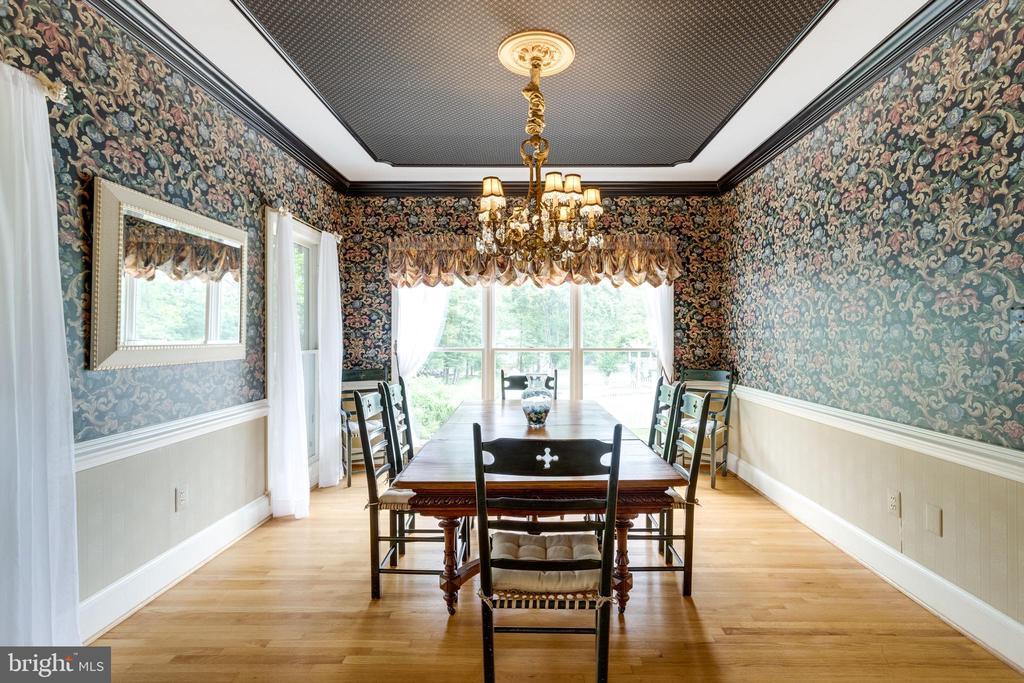 Dining Room has Custom Trim throughout. - 11256 WAPLES MILL RD, OAKTON