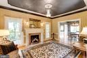 Living Room has Custom Trim throughout. - 11256 WAPLES MILL RD, OAKTON