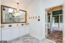 Double Bowl Vanity in Master Bath. - 11256 WAPLES MILL RD, OAKTON
