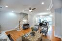 Open concept; living room, dining room, kitchen - 4722 8TH ST NW, WASHINGTON