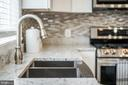 Granite counters, stainless steel sink - 4722 8TH ST NW, WASHINGTON