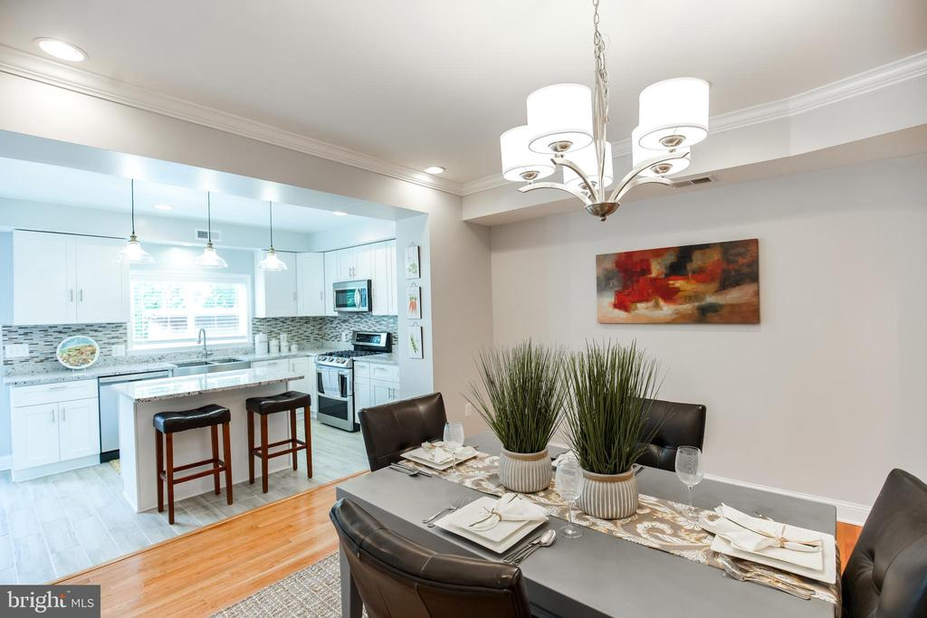 Dining room/kitchen - 4722 8TH ST NW, WASHINGTON