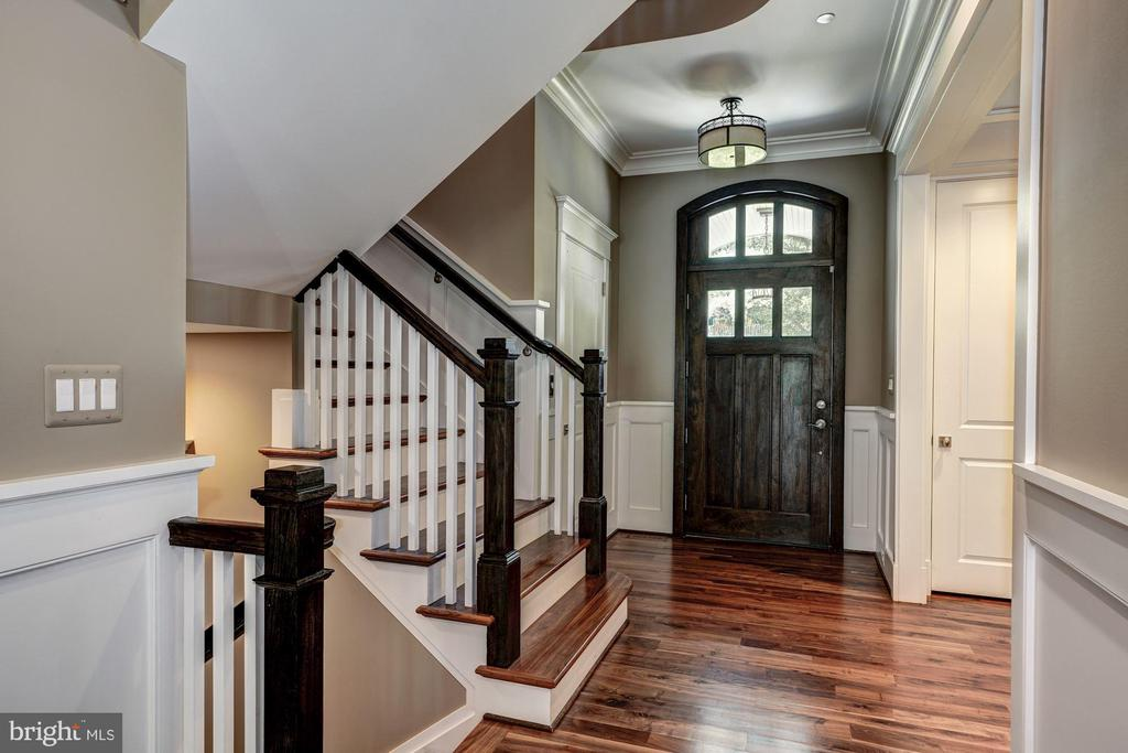 Stunning Entrance with Elevator to all 4 Floors - 9927 CARTER RD, BETHESDA