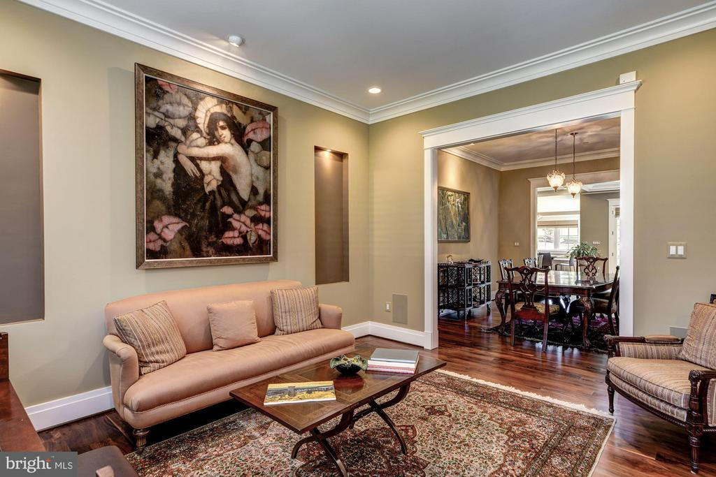 Living Room Flows to Dining Room - 9927 CARTER RD, BETHESDA