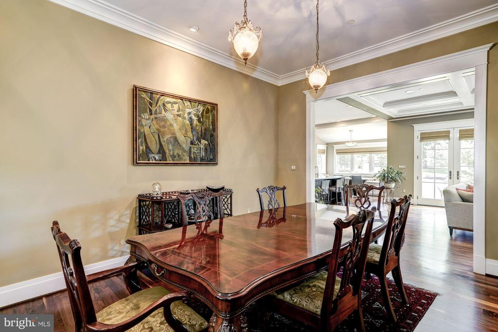 Spacious Formal Dining Room Leading to Family Room - 9927 CARTER RD, BETHESDA