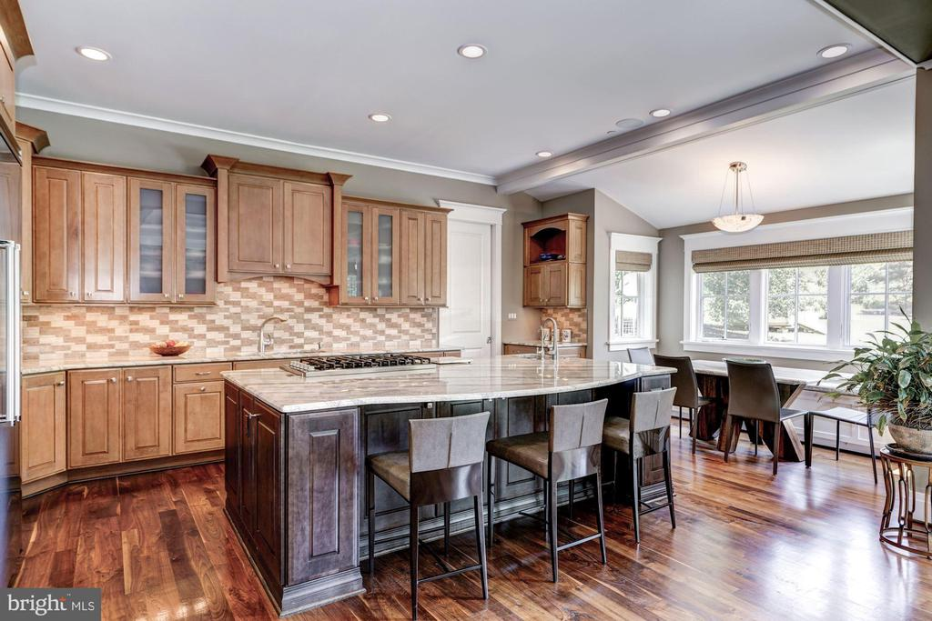 Exquisite Chef's Kitchen with Breakfast Bar - 9927 CARTER RD, BETHESDA