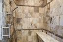 Outstanding Stone Shower with Bench - 9927 CARTER RD, BETHESDA