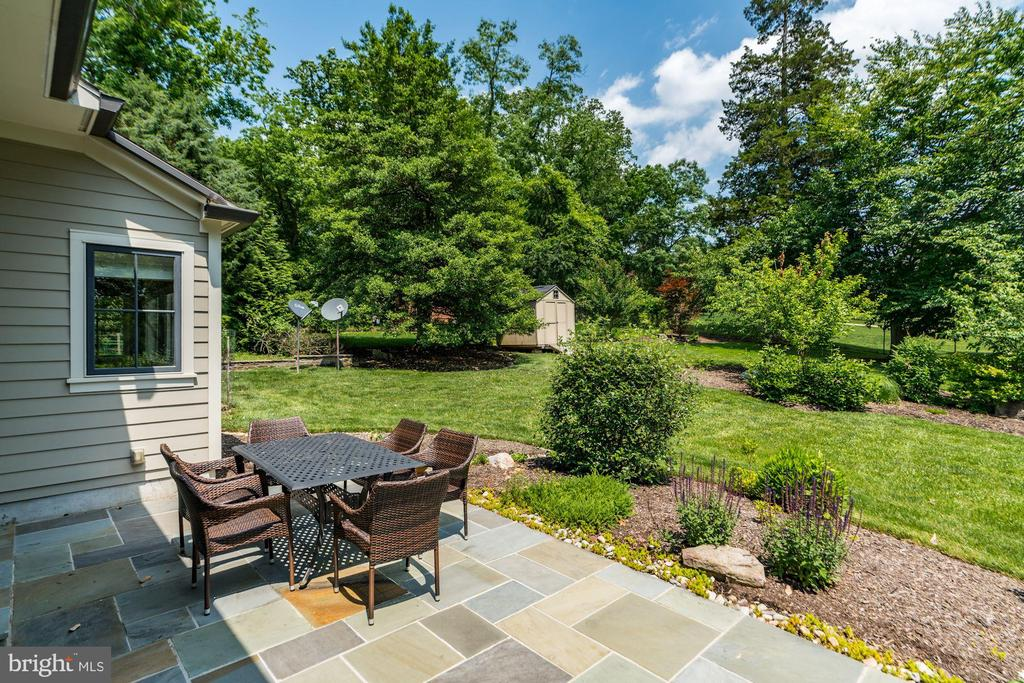 Patio #1 from the Great Room Double Door Walkout - 9927 CARTER RD, BETHESDA