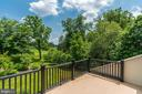 Spectacular View from the Master Bedroom Balcony - 9927 CARTER RD, BETHESDA