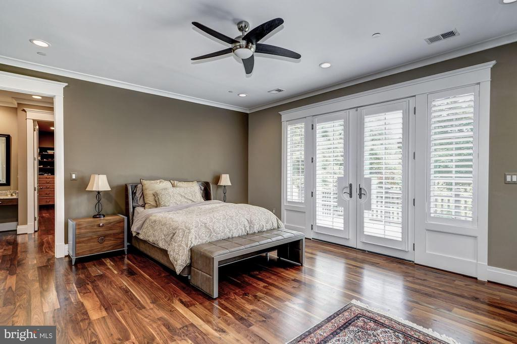 Master Bedroom with Doors to the Balcony. - 9927 CARTER RD, BETHESDA