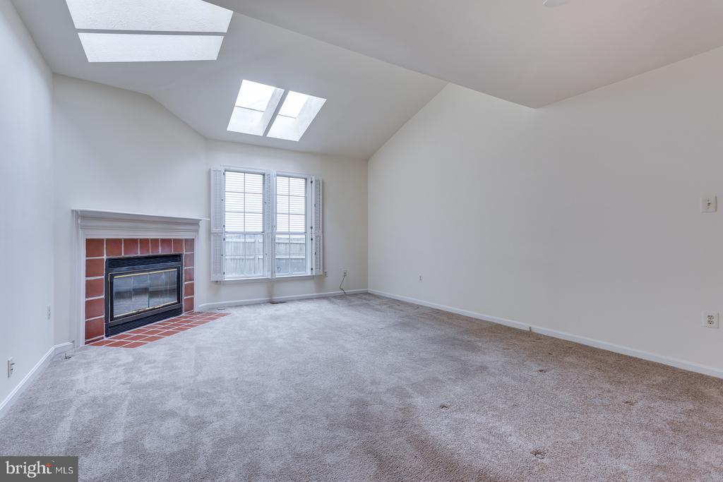 Family Room Vaulted Ceiling & 4 Skylights - 12036 SUGARLAND VALLEY DR, HERNDON
