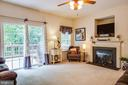 Family room with gas fireplace - 7340 JEFFERSON DR, KING GEORGE