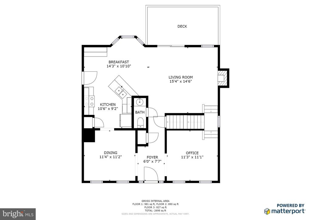 Main Floor floor plan - 7340 JEFFERSON DR, KING GEORGE