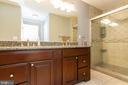 Dual vanity with granite counter top - 98 WATEREDGE LN, FREDERICKSBURG