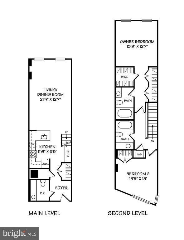 Floor Plan - 616 E ST NW #850, WASHINGTON