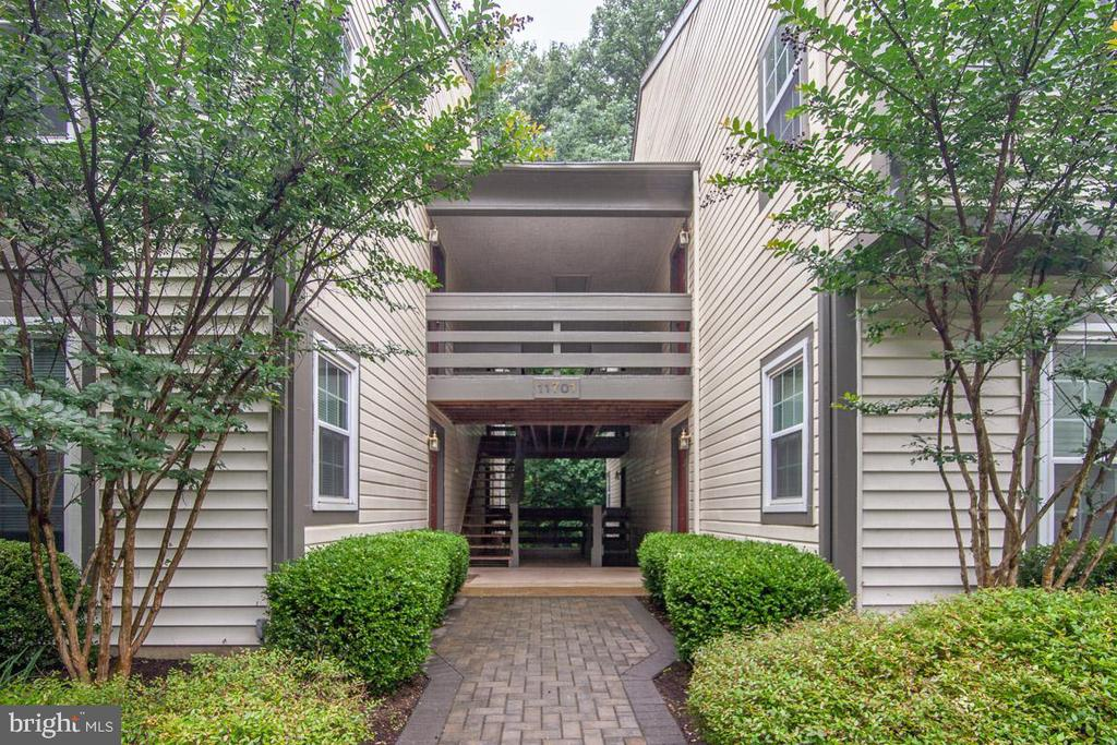 Nicely Landscaped Main Entrance To The Building - 11701-B KARBON HILL CT #502B, RESTON