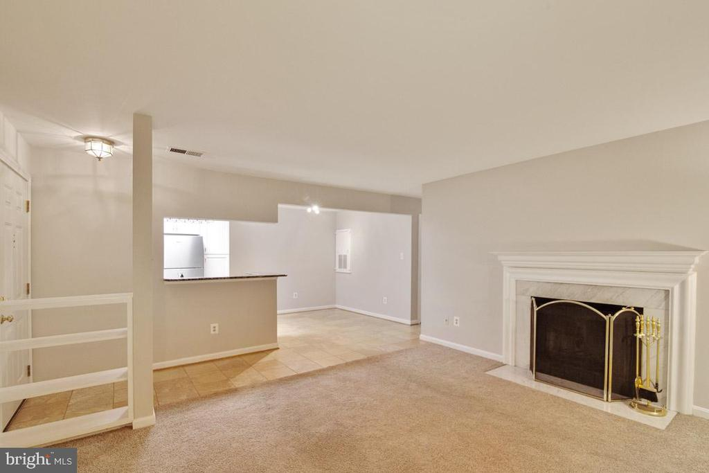 Living Room With Wood Burning FP And Built-Ins - 11701-B KARBON HILL CT #502B, RESTON