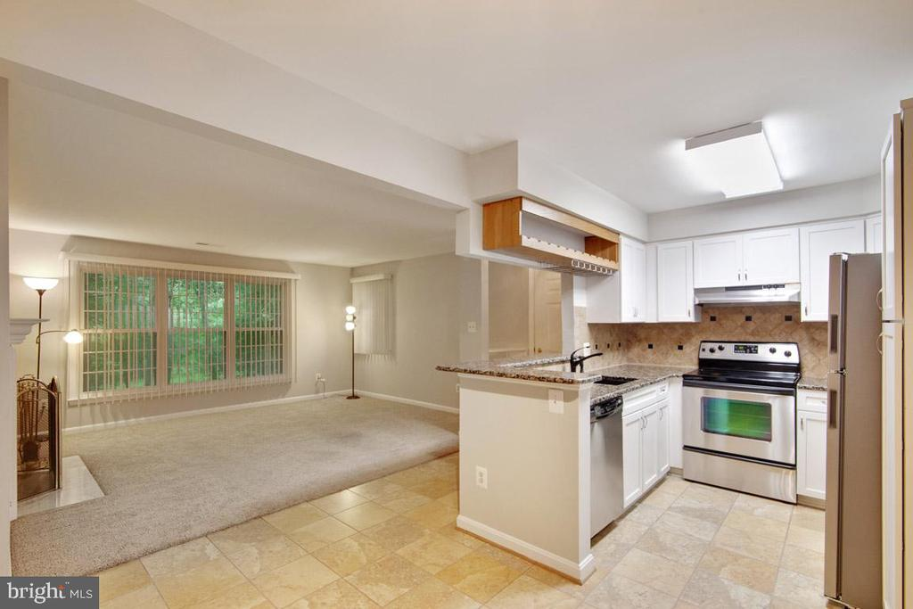 Full Depth View of Living Area From Dining Rm - 11701-B KARBON HILL CT #502B, RESTON