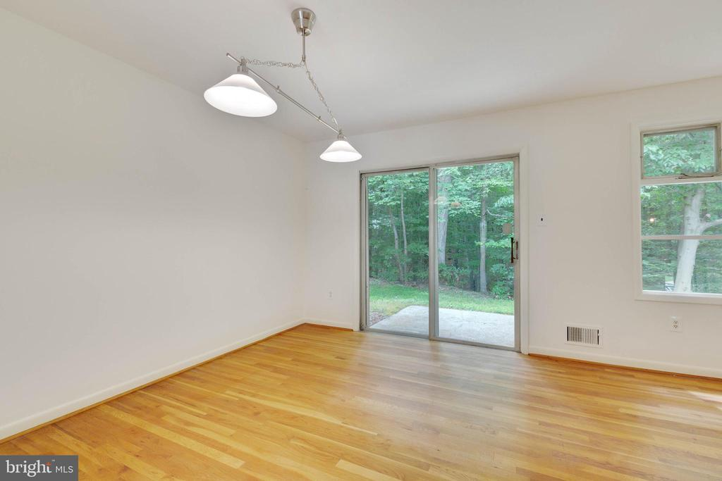 Dining Room with Slider leading to the back yard - 8301 CURRY PL, ADELPHI