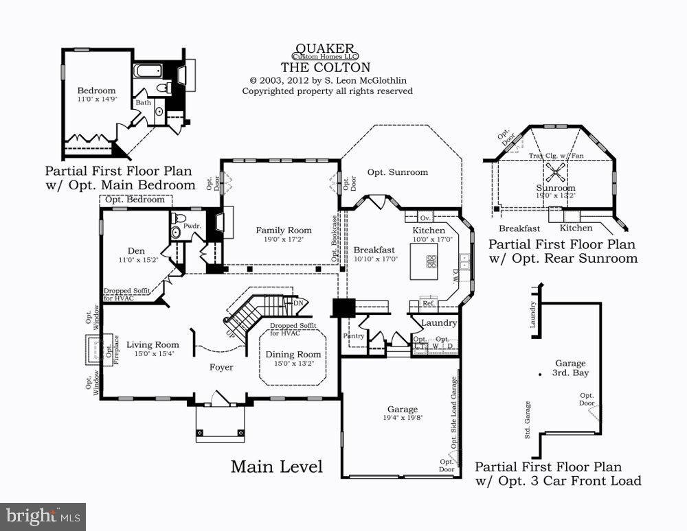 Main Level Floor Plan - 13524 LITZA WAY, WOODBRIDGE
