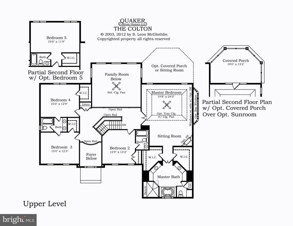 Upper Level Floor Plan - 13524 LITZA WAY, WOODBRIDGE