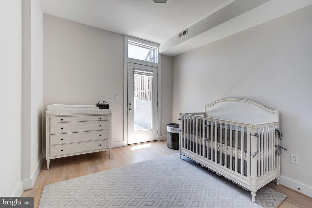 Second Bedroom with Access to One of Two Patios - 1352 QUINCY ST NW #1, WASHINGTON