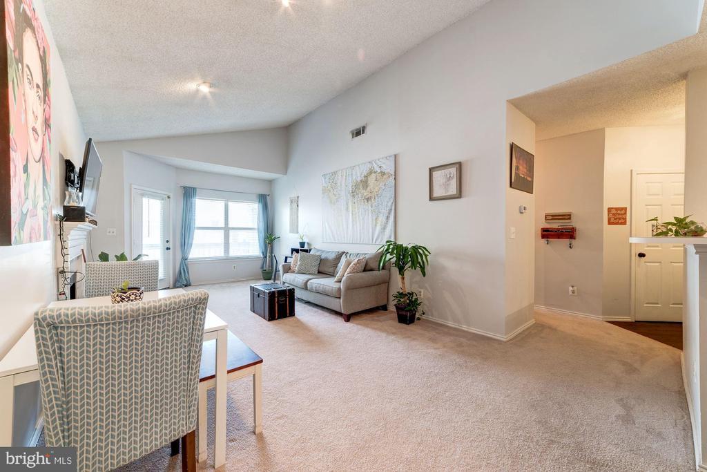 Living Room - Abundance of Sunlight - 4404 HELMSFORD LN #203, FAIRFAX